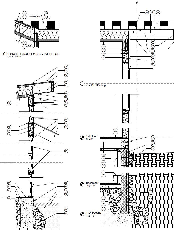 Typical Wall Section Drawings