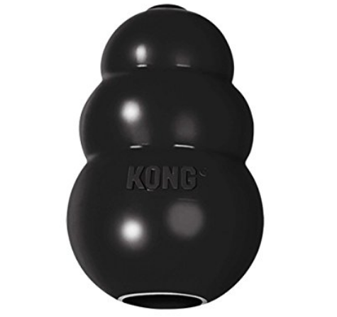 Kong (Extreme) - The extreme edition is for extreme chewers! Yes, it is possible for a dog to destroy this toy, but it will take awhile! Fill it with your dogs fave treats and freeze it!