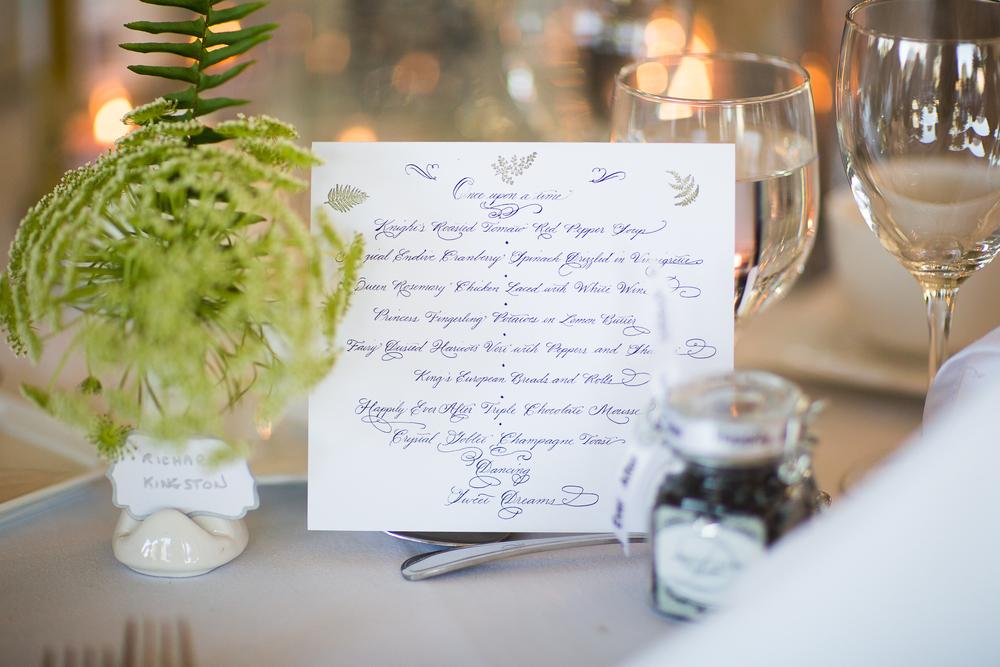 Spencerian Script | Wedding Menu