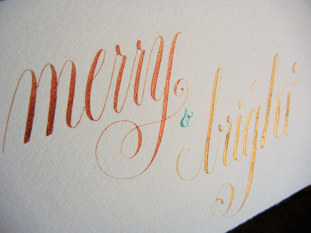 Copperplate Script | Christmas Holiday Card