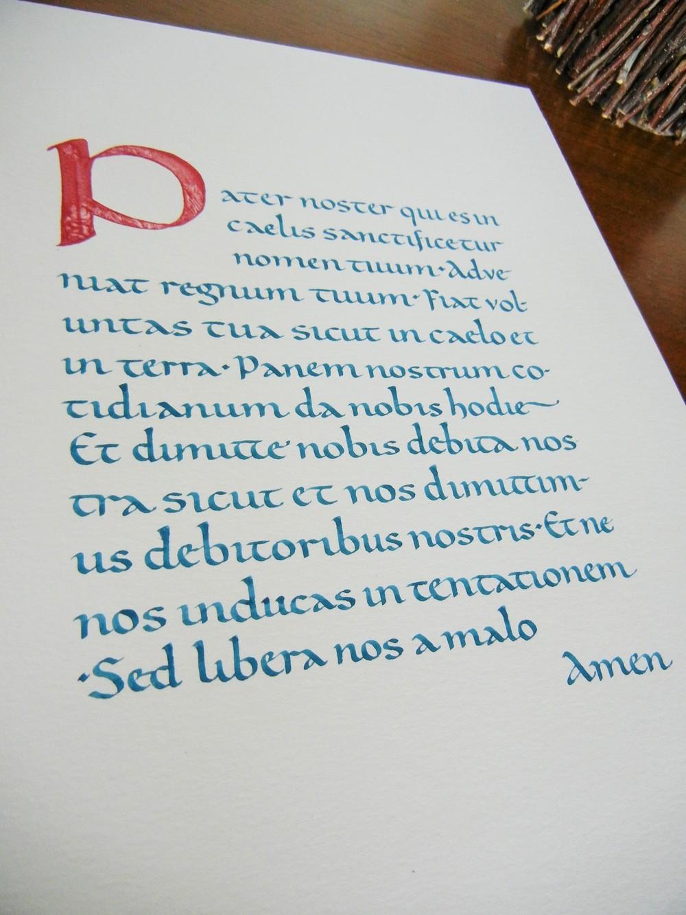Carolingian Script | Pater Noster Exhibit Piece