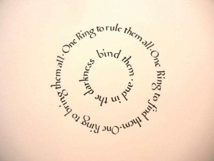 The finished piece for the Foundational Script course | Calligraphy Society of Ottawa