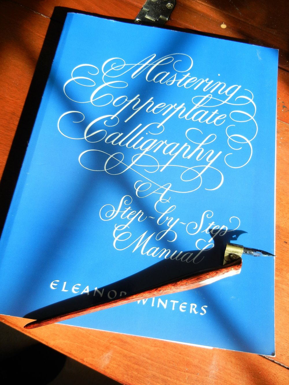 My first authentic calligraphy book.