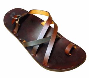 Jutta Neumann (Newman Jutta) / SIMONE (men's juttanewman juttanouman  restrant leather Sandals tongs) 16 SS-SIMONE-bjb