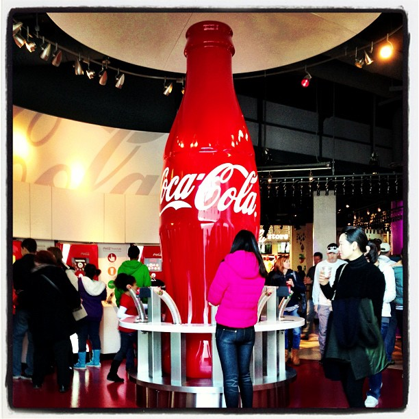 Worshiper At the Altar of Coke (at The World of Coca-Cola)