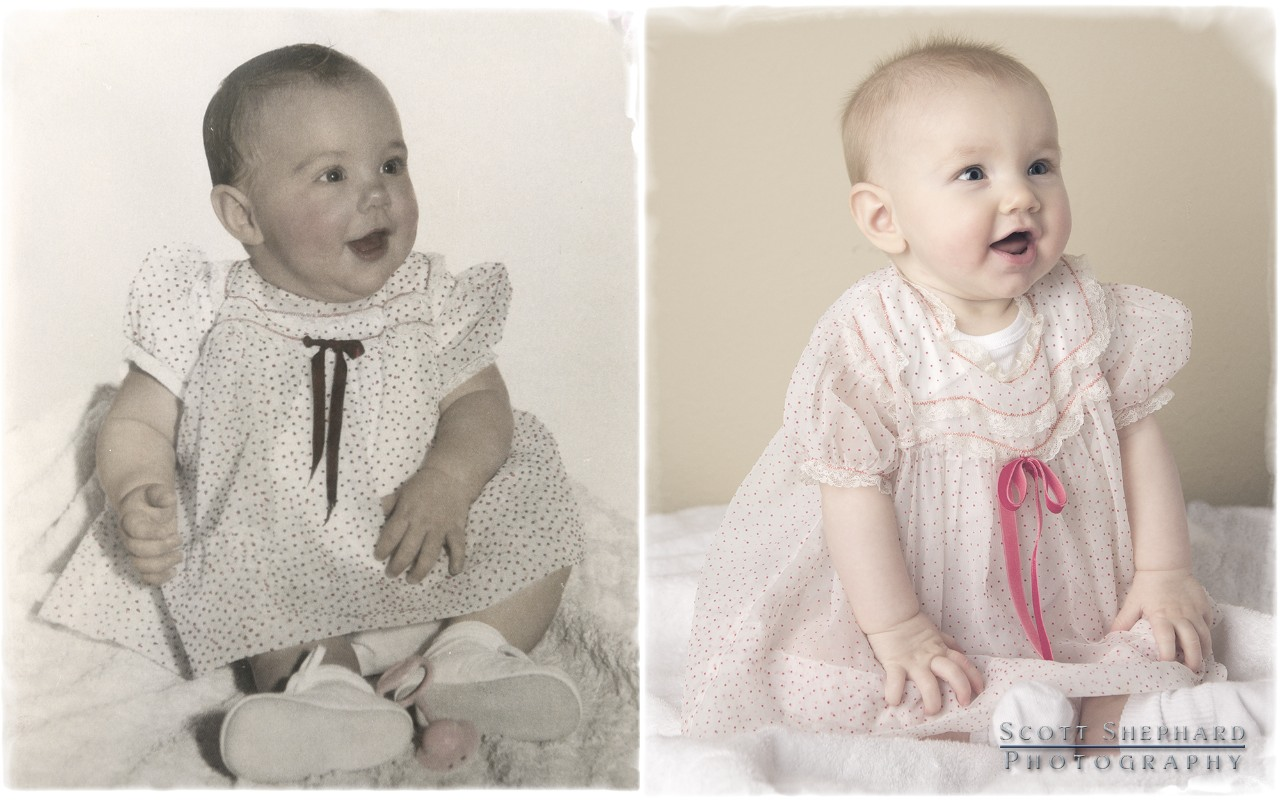 2013 12-01 Then & Now - 6 Months Old by Watertown, South Dakota, photographer Scott Shephard