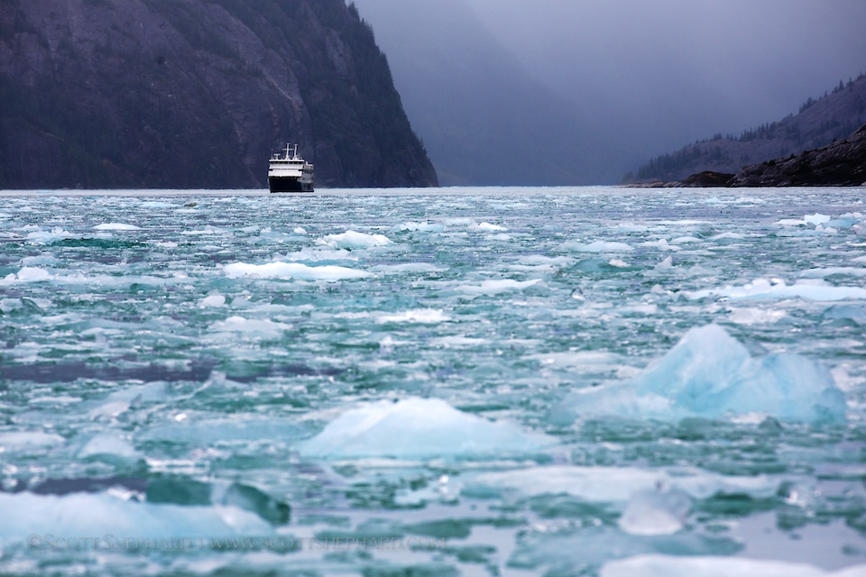2013 09-02 The Safari Endeavor at Dawes Glacier by Scott Shephard