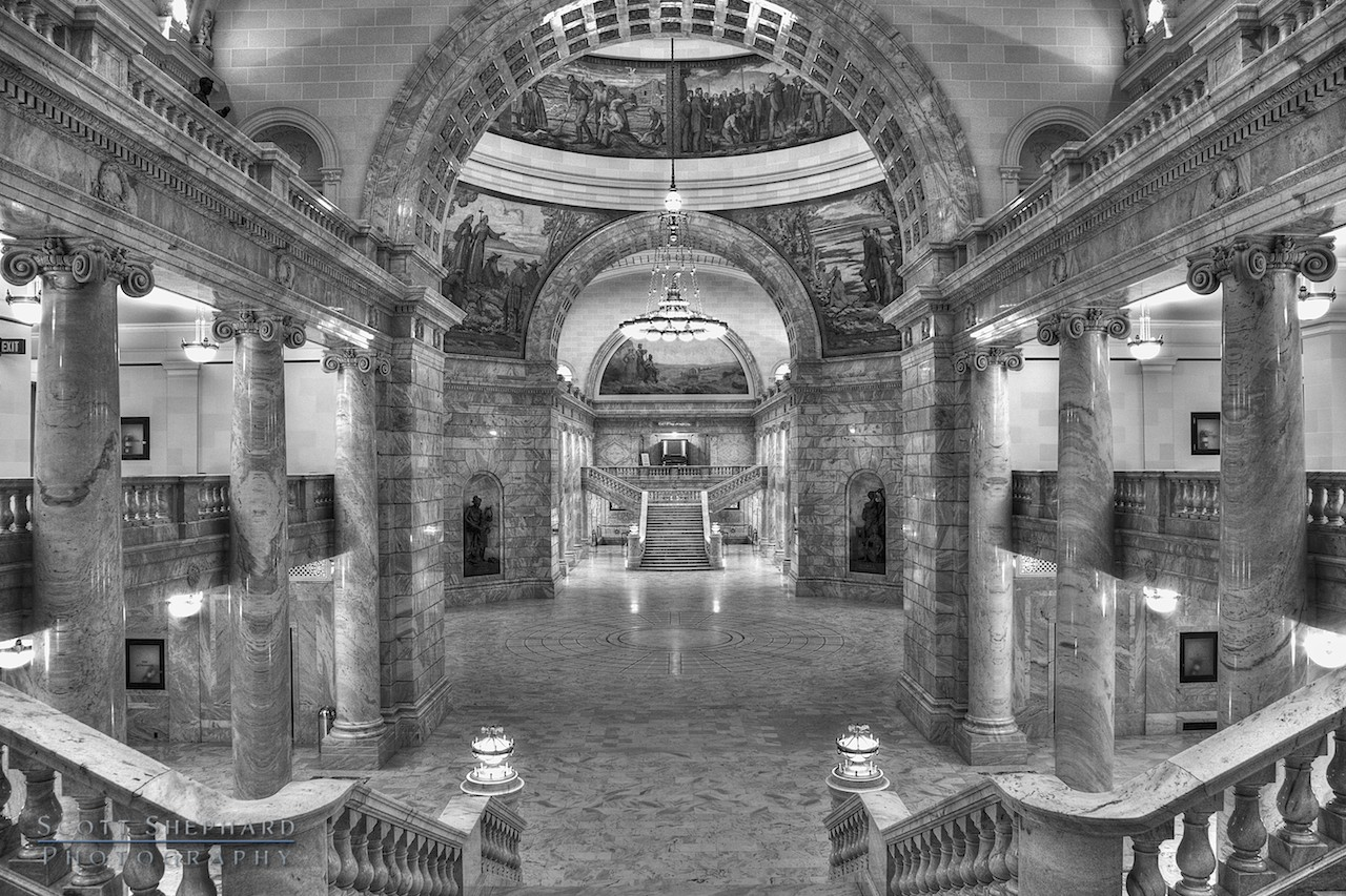 2013 10-31 Utah State Capitol (HDR) by Watertown, South Dakota, photographer Scott Shephard