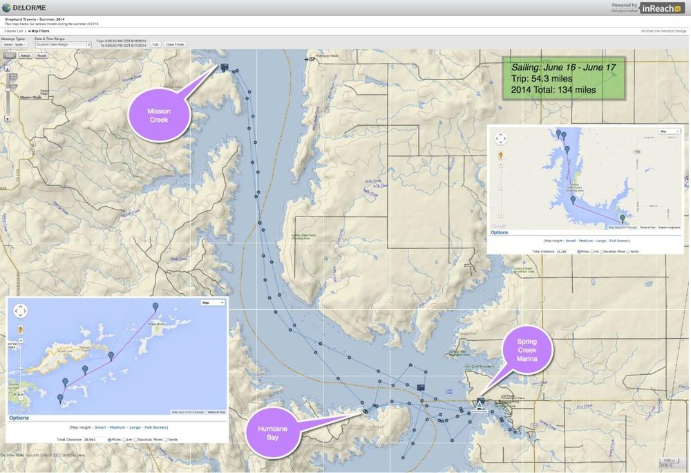 2014 06-19 Sailing Lake Oahe