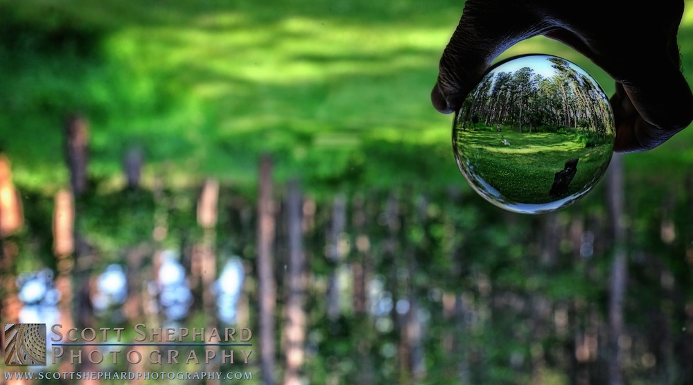 2014 07-18 My Grandma's Crystal Ball - The View from the Cabin by Watertown, SD, photography Scott Shephard