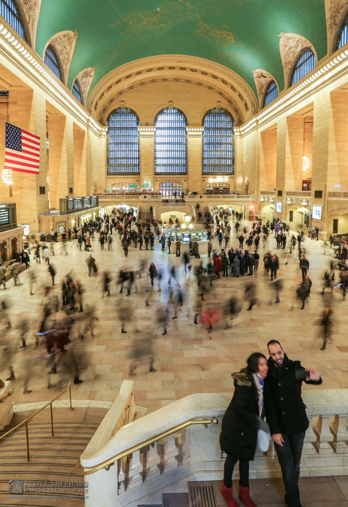 This photo of a couple taking a selfie in Grand Central Station in the background was taken by Watertown, South Dakota, photographer Scott Shephard