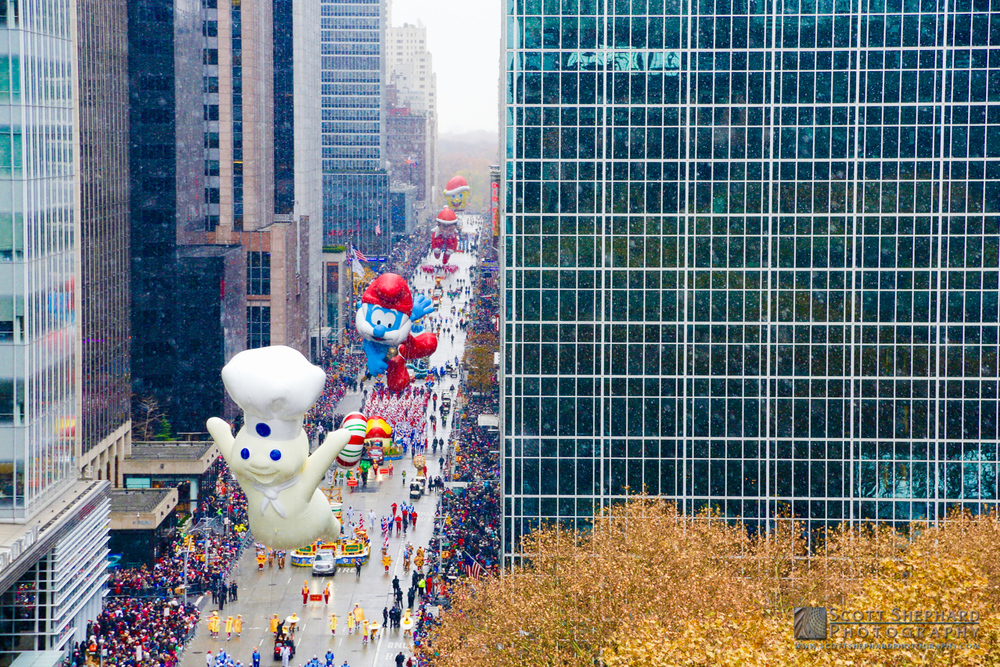 This photo of several ballons in the Macy's Thanksgiving Parade was taken by Watertown, South Dakota, photographer Scott Shephard