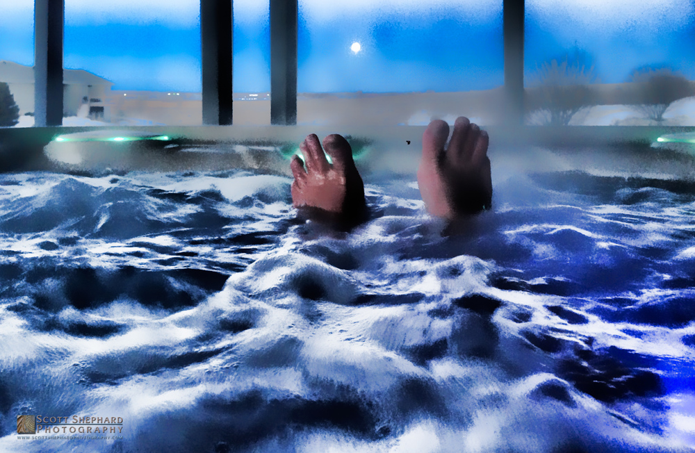 Self Portrait with Feet, Moon and Spa.jpg
