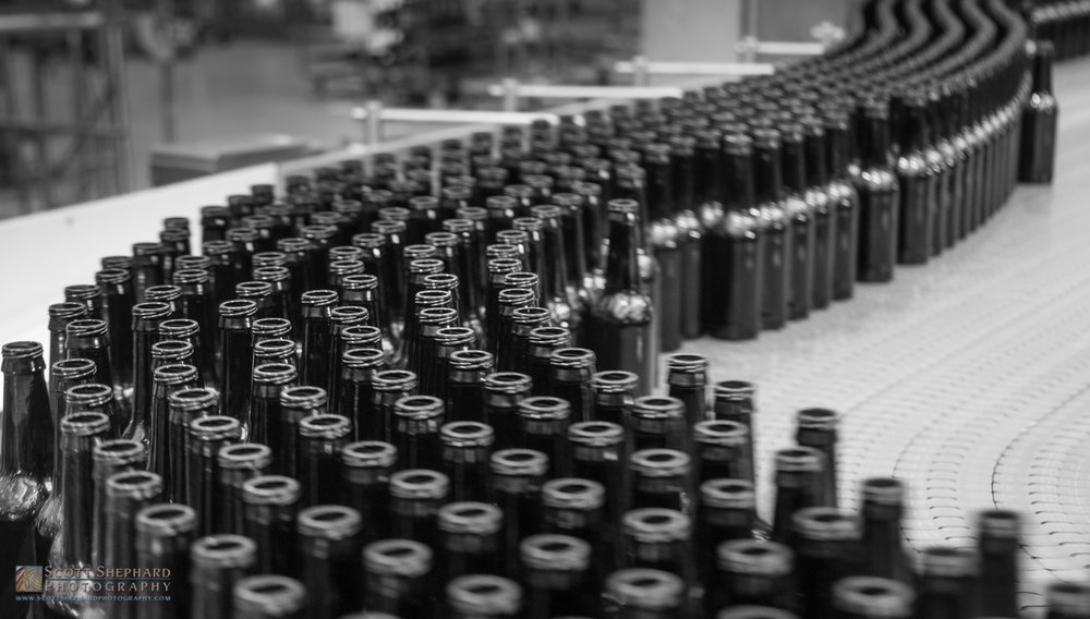 Beer Bottles at Budweiser brewery, St. Louis.jpg