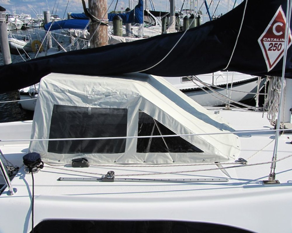 Pop top companionway cover (not my boat or my photo)