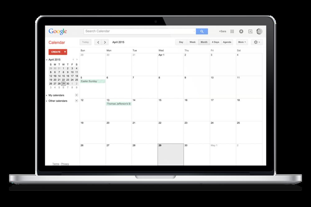 Google Calendar — www.goffcreative.com