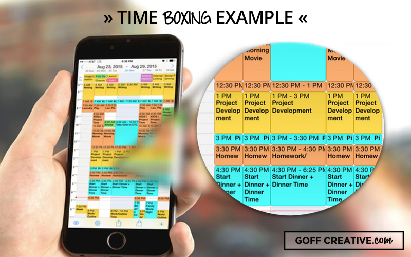 Time Boxing Example | GoffCreative.com