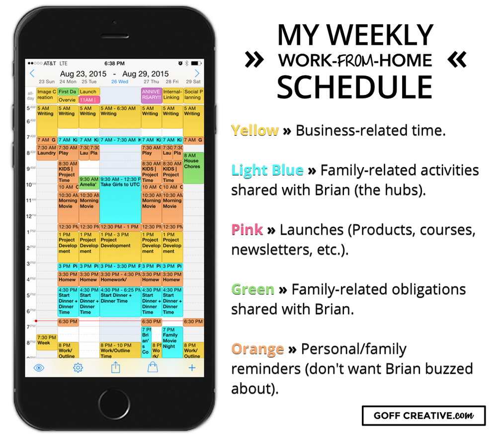 Weekly Calendar Sheets : Dissecting a mompreneur s schedule succulent strategies