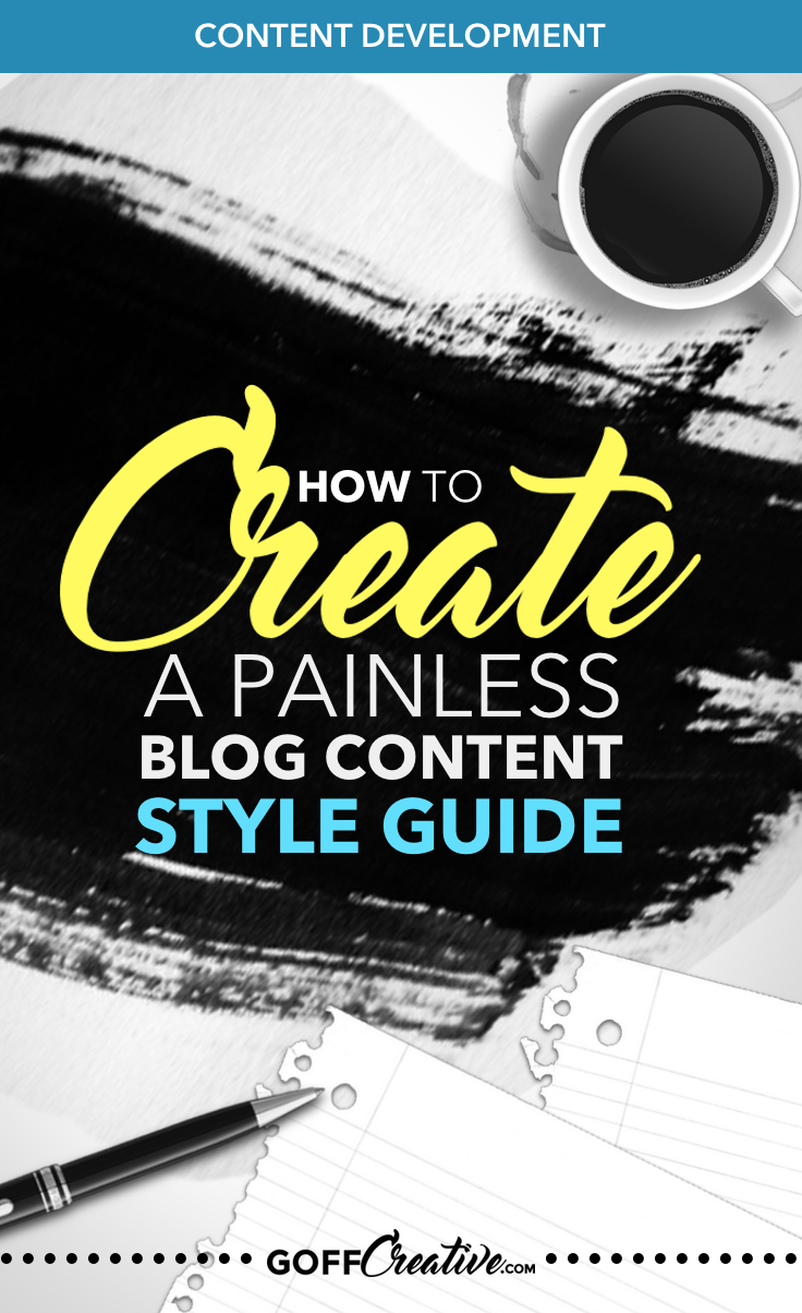 Did you know you needed a content style guide? Yeah, I didn't. And my content reflected it in all the wrong ways. Don't make my mistakes (or start fixing them NOW). Click through to get my simple, 1-2 page  walkthrough, or Pin this for later.