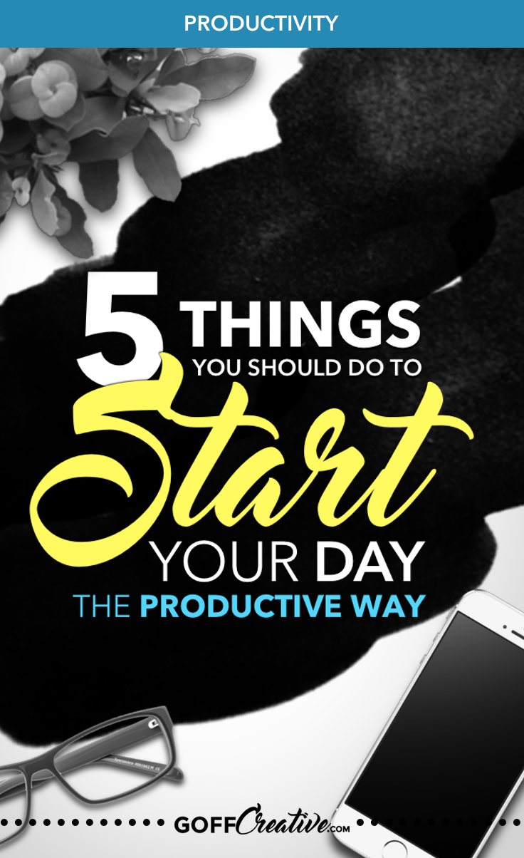 Your morning could make or break your entire day. Maximize productivity, output, health, and happiness—all in your morning routine. Click through to get the 5 things you should do to start your day the productive way, or Pin this for later!
