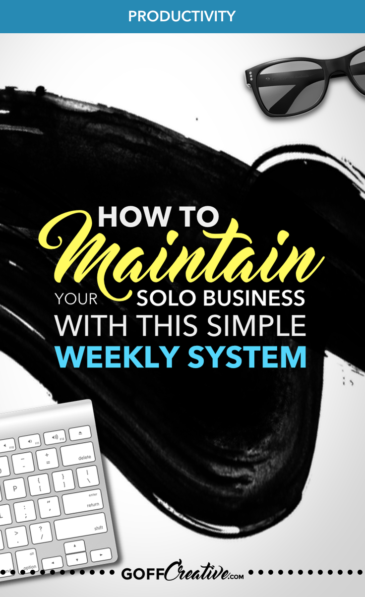 Steal my 5 simple steps to creating a weekly system to help you maintain (and grow) your solopreneur business. Click through to get the steps + a free worksheets pack, or Pin this for later!