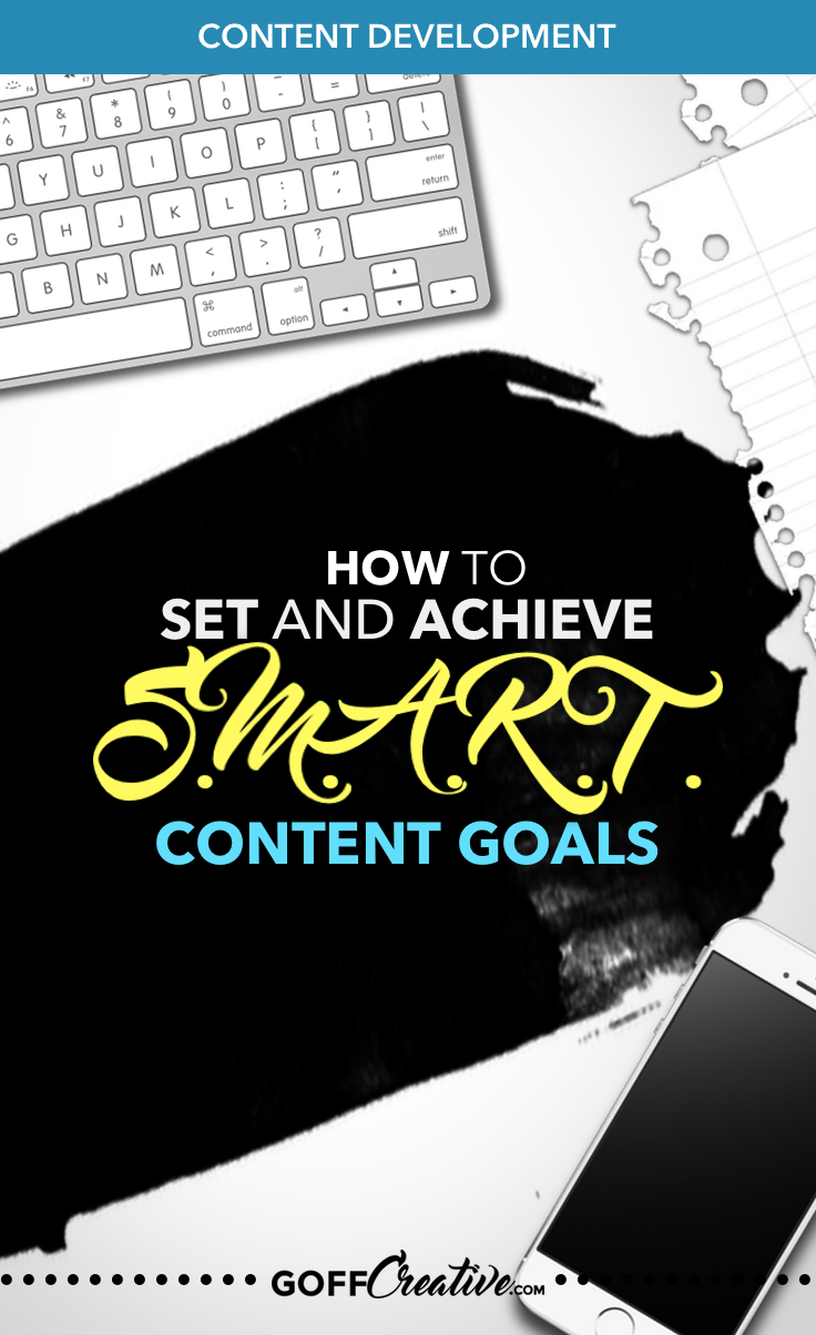 Setting goals for your blog content isn't too far from the goals for your business. But do you REALLY know how to plan them S.M.A.R.T.? Click the image to get the full strategy to setting and achieving your blog goals, or Pin this for later!