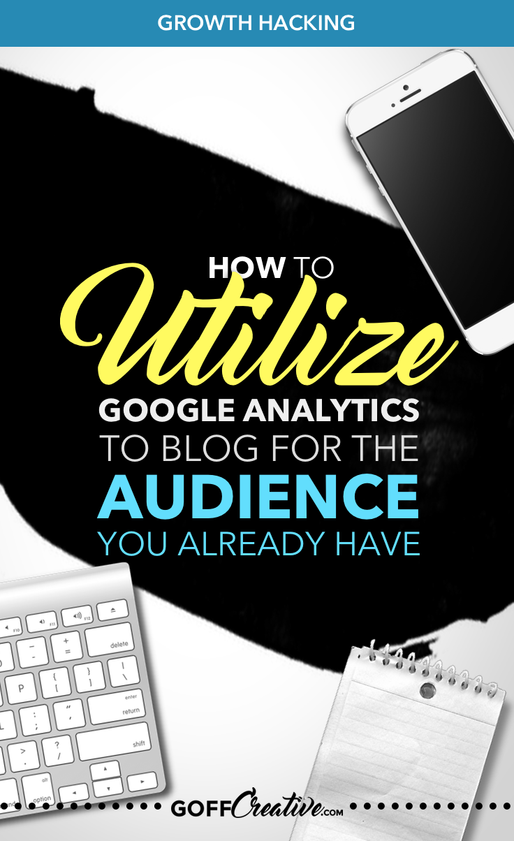 Get down and friendly with your Google Analytics account to stay sharp for your target blog audience. And blog for the RIGHT people... Click the image to get the step-by-step walkthrough, or Pin this for later!