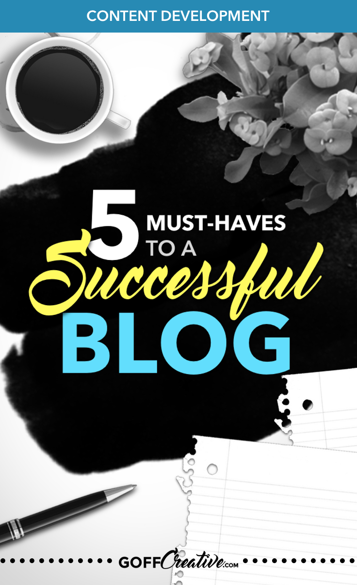 A successful blog needs 5 things. Crazy that #blogging is so indicative of a simple 5-step requirement to success, but it CAN be that simple when you start here. Click through to get the 5 keys, plus the free Content Planner. Please Pin this to spread the word! (Thanks :)