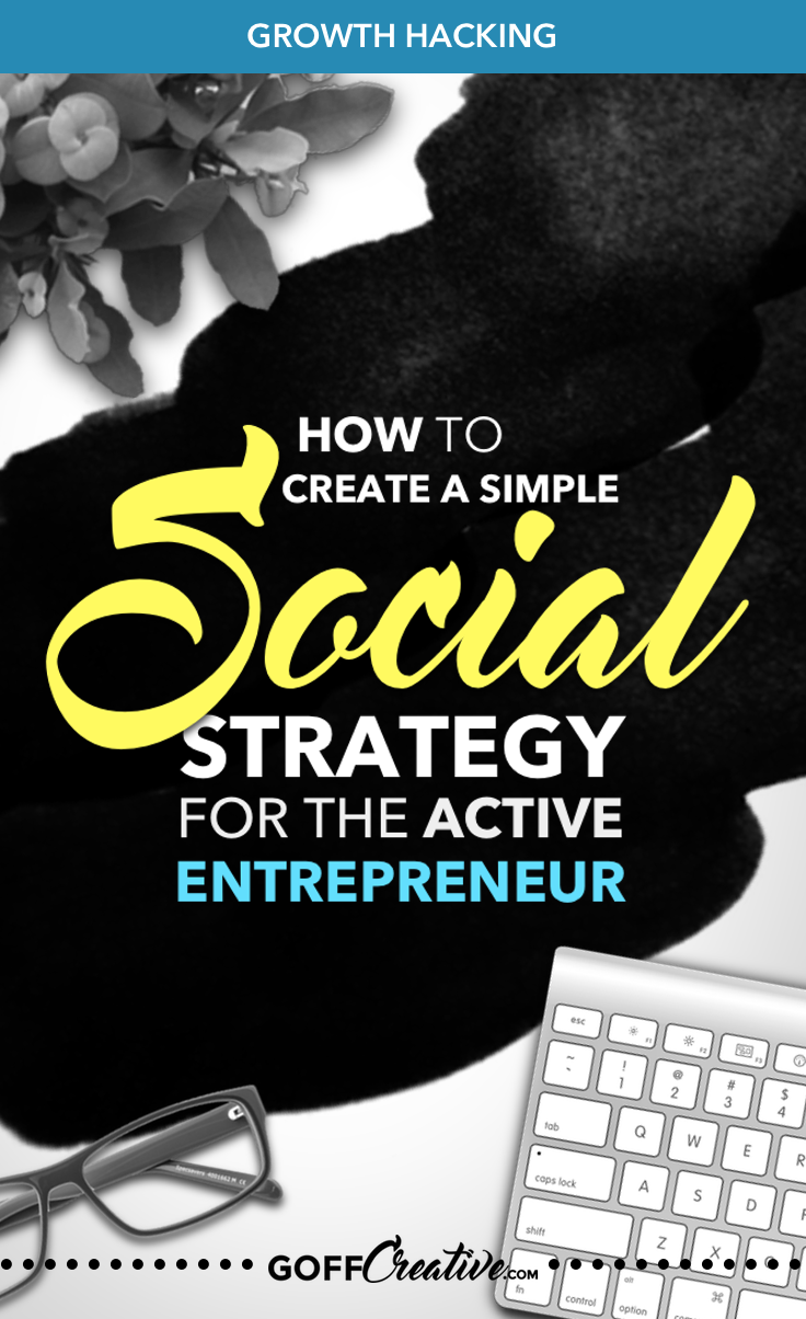 How to Create A Simple Social Strategy For The Active Entrepreneur | GoffCreative.com