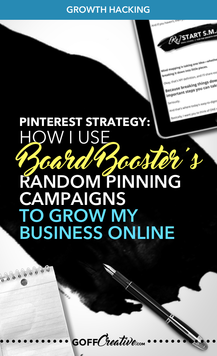 #Pinterest Strategy: How I Use #BoardBooster's Random Pinning Campaigns To Grow My Business Online. Click through for the details, strategy + video tutorial, or Save this for later!