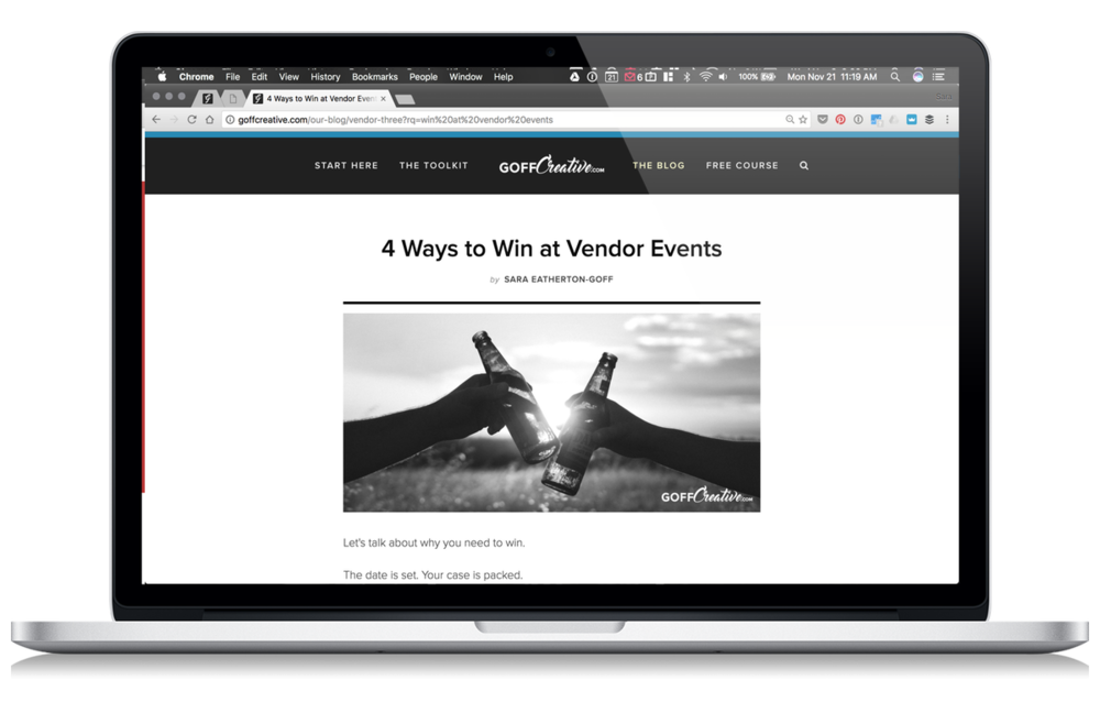 4 Ways To Win At Vendor Events | GoffCreative.com