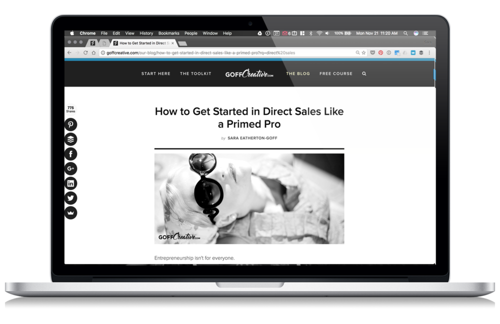 How To Get Started In Direct Sales Like A Primed Pro | GoffCreative.com
