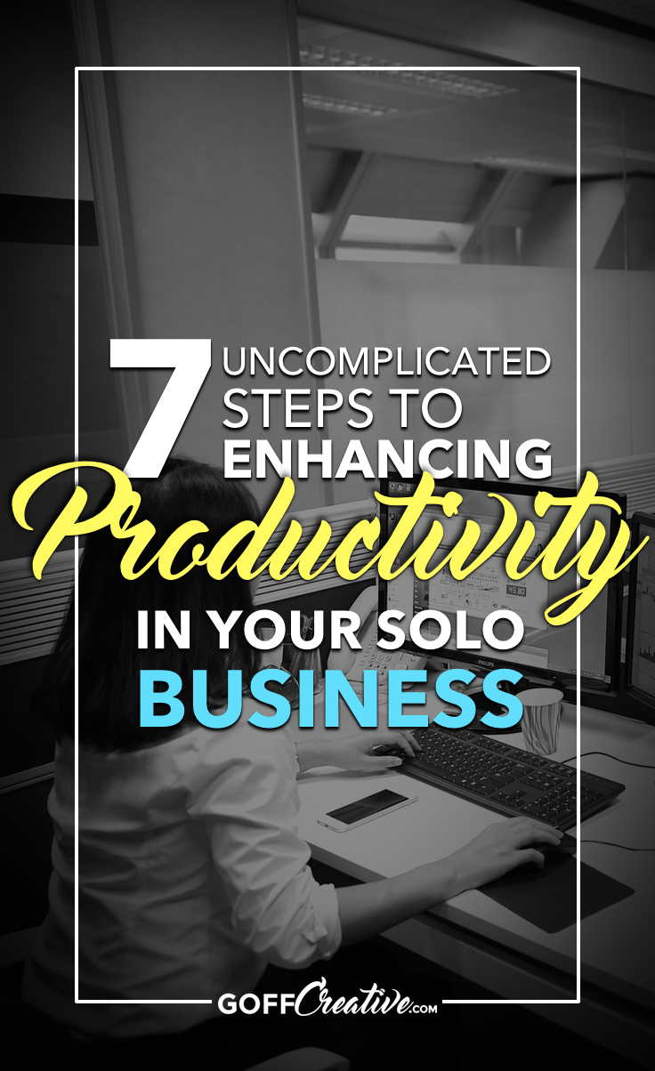 Want to be more productive in your solopreneur business? (Stupid question, I know...) But seriously, I've gathered 7 steps at any productivity level. Click through to get the steps, or Save this for later!