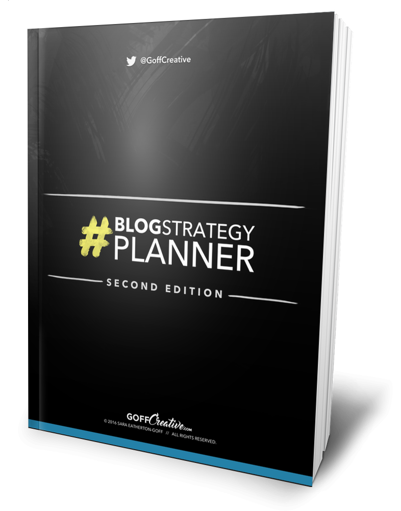 The #BlogStrategy Planner | GoffCreative.com
