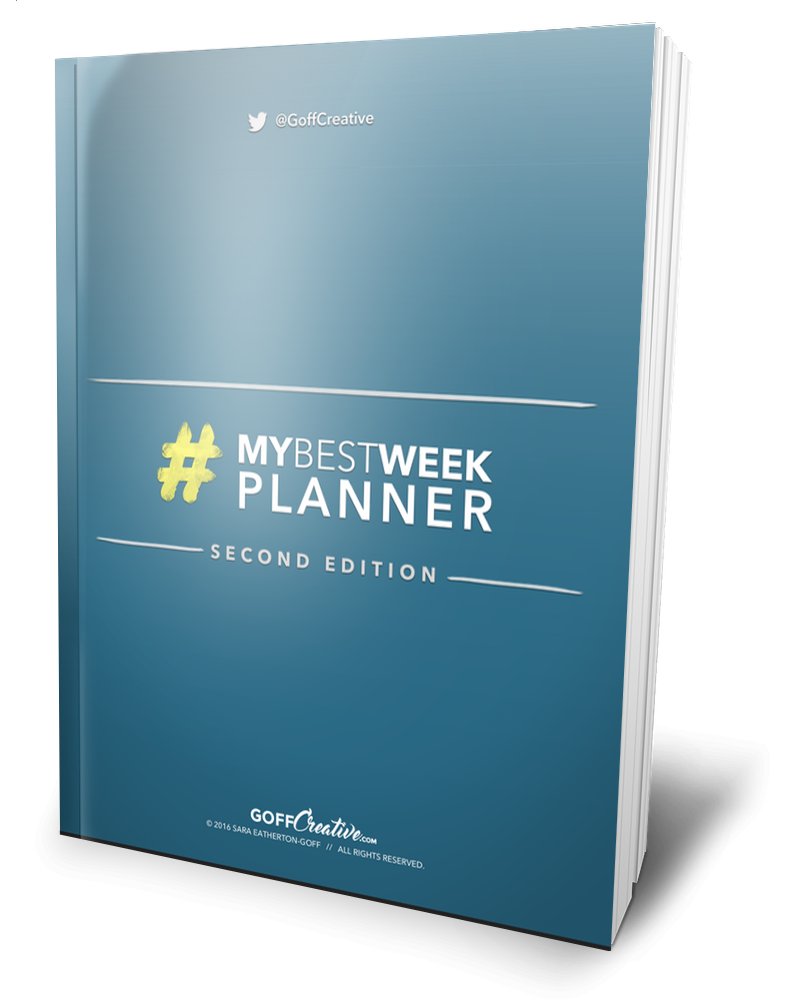 #MyBestWeek Workbook | GoffCreative.com