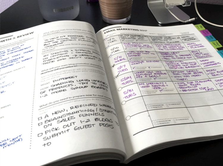 A peek inside the Content Strategy Planner by Sara Eatherton-Goff of GoffCreative.com