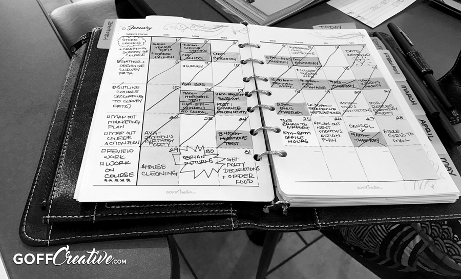 January's Content, Life, Business, and Project planning | GoffCreative.com