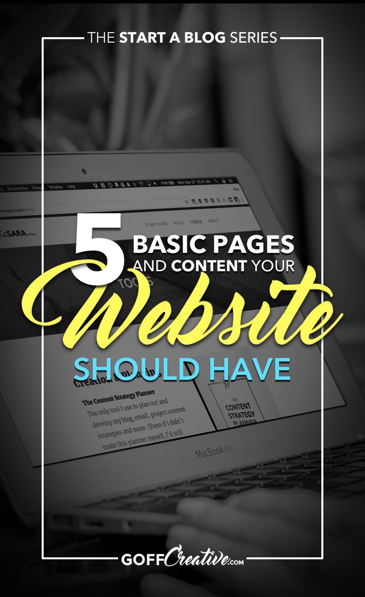 The 5 basic public pages or links you should have on your site + the hand full of bonus pages that just add to your legit-ness online. Click through to get the skinny, or Save this for later!
