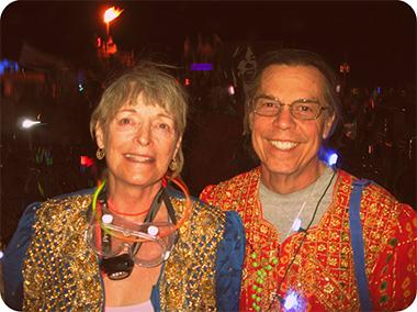 Marycie and Lorenzo at Burning Man
