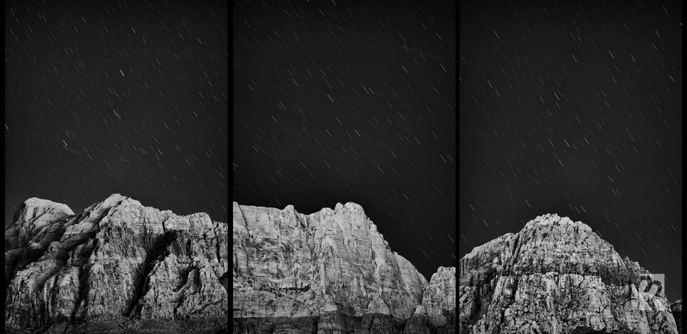 Triptych ISO 200, f/2.5 @ 2 minutes Nikon D700. 105mm + Silver Efex Pro