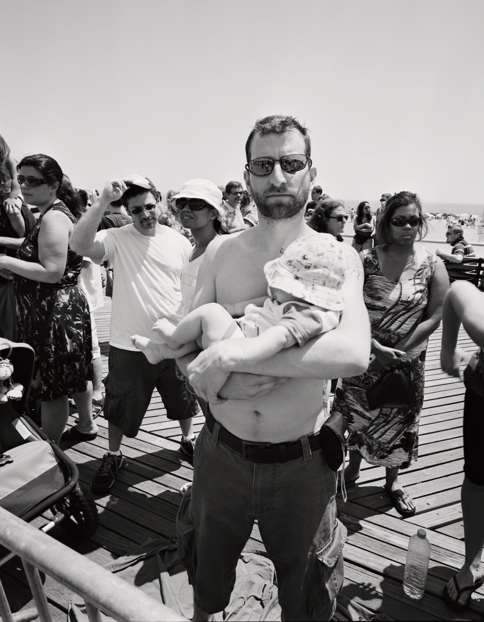 Peter and his son from the 2008 Mermaid Parade © Matt Hill