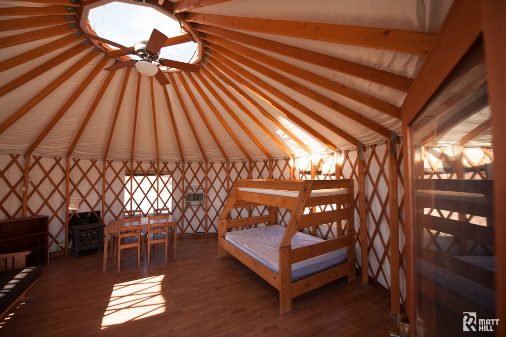 Inside view of Yurt #2