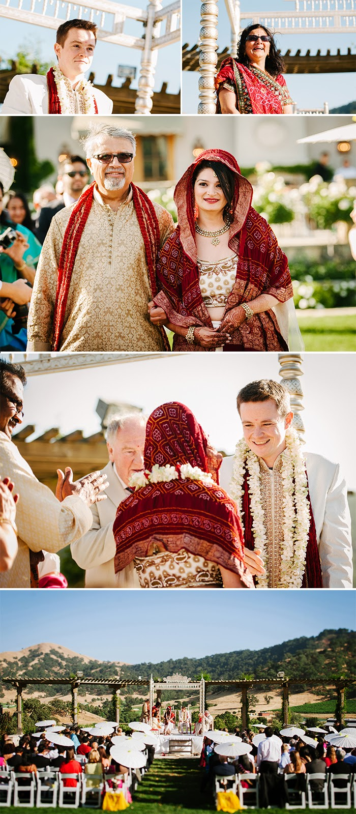 San Martin wedding Indian ceremony Clos LaChance Winery