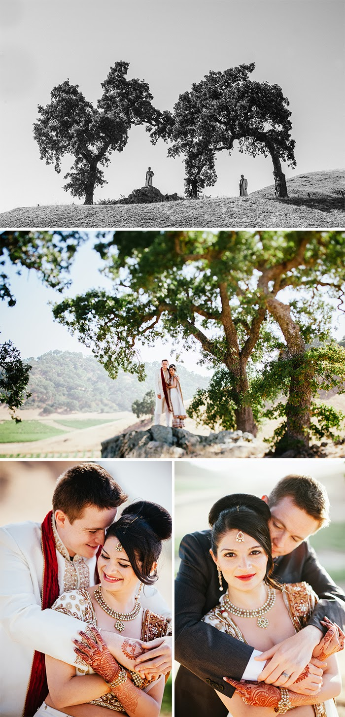 Clos LaChance Winery Indian Wedding Bride Groom Portraits
