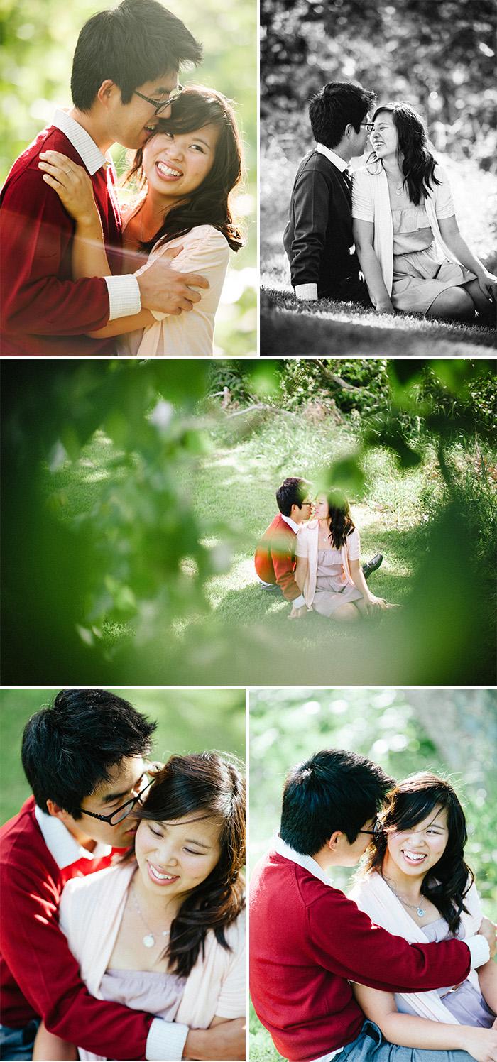 Jessica Taishi Engagement Photo in Schabarum Park