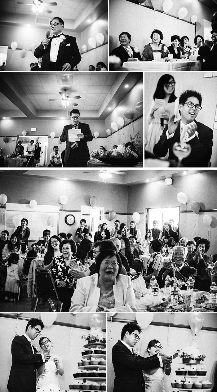 West Covina Christian Church documentary wedding photography reception