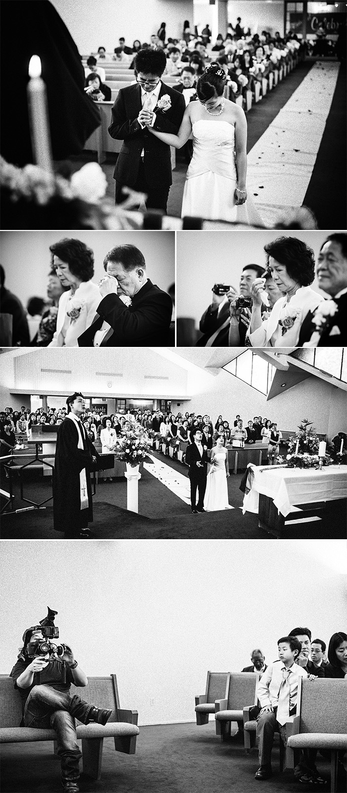 West Covina Christian Church documentary wedding photography ceremony