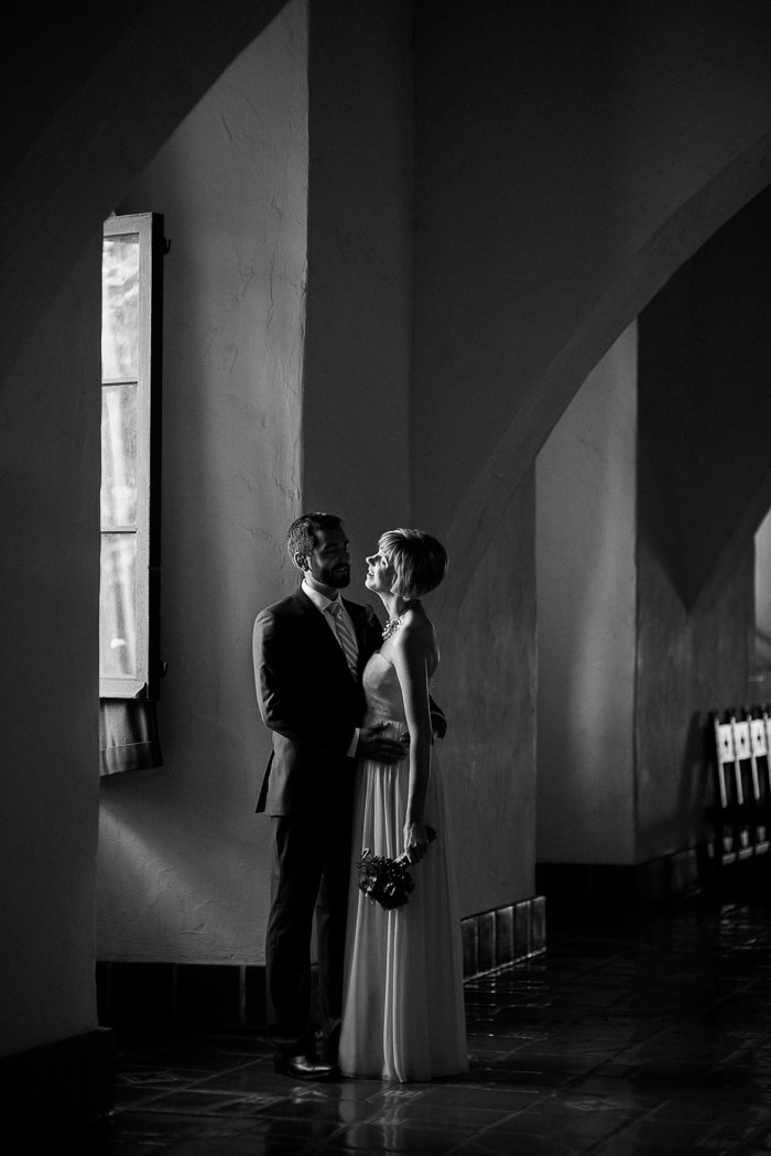 Santa Barbara Courthouse wedding portraits