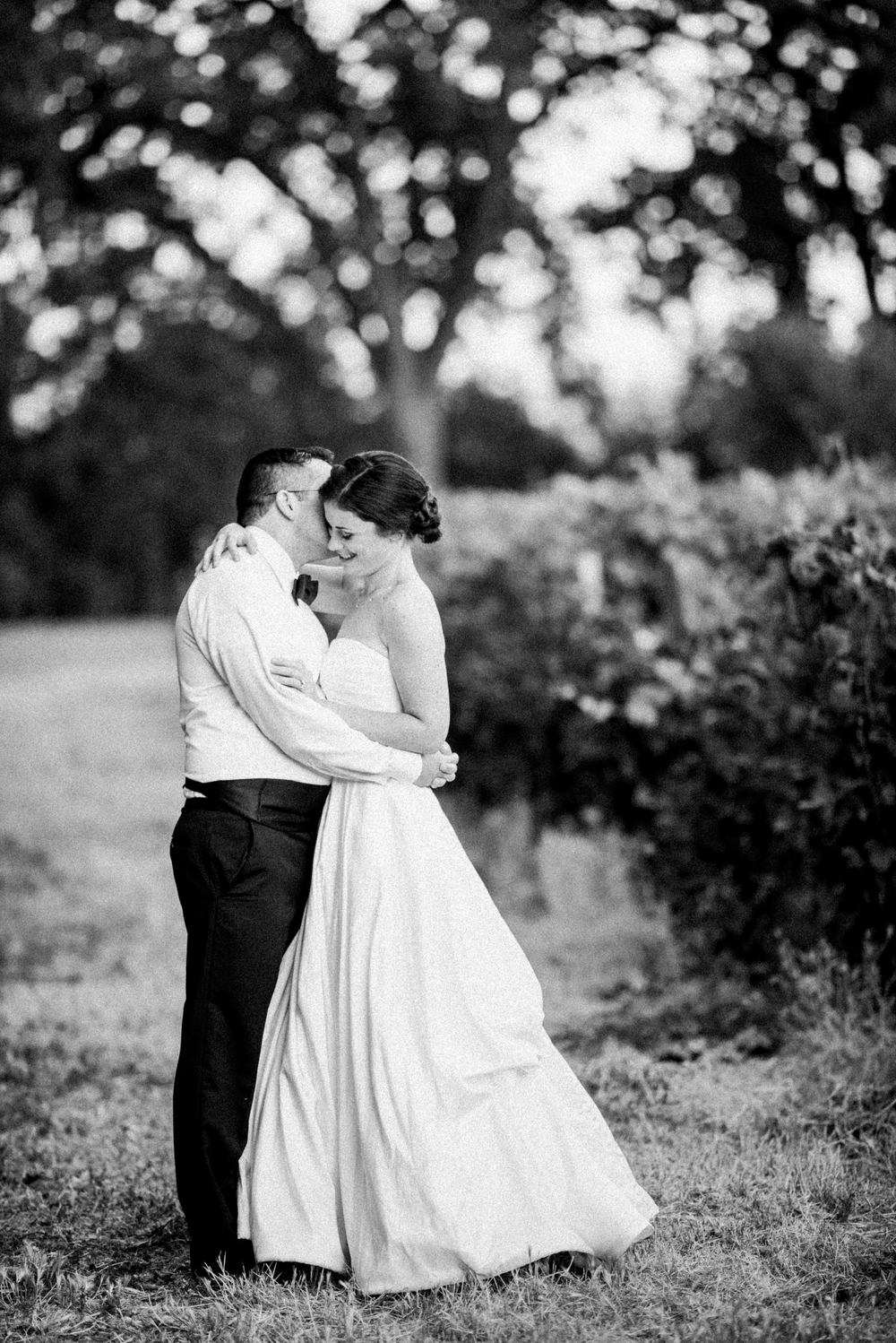 Bride and groom portrait at Charles Krug Winery St. Helena wedding