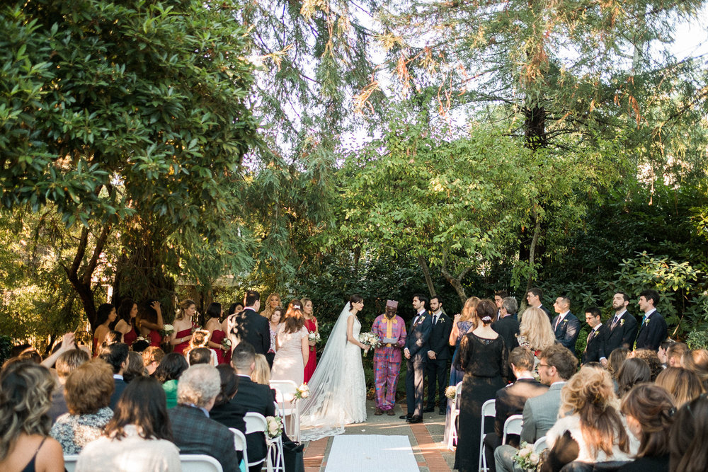 Outdoor Art Club Mill Valley wedding ceremony